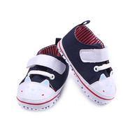 0-12M Newborn Infantil Baby Shoes Boys Girls Soft Sole Canvas Shoe Toddler Printing Star First Walker NW