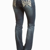 GRACE IN LA BOOT WING CROSS JEANS