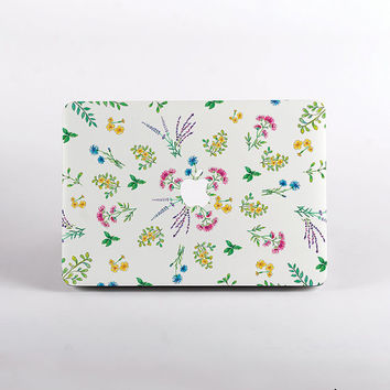 Floral Herbs MacBook Case. Hard Plastic Laptop Case Design for all MacBook Models
