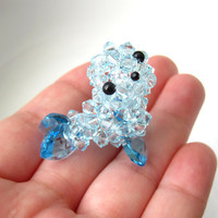 Seal Swarovski Crystal Figurine by SparkleMeHappy on Etsy