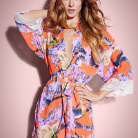 NEW Printed Georgette Harlow Robe