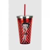 Betty Boop Stainless Steel Cup W/straw