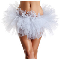 Layered Organza Tutu White O-s