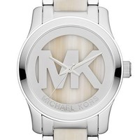 Michael Kors 'Runway' Logo Dial Bracelet Watch, 45mm | Nordstrom