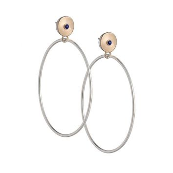 Unda hoop earrings