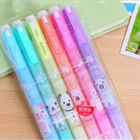 Cute KAWAII ANIMAL Highlighter Pen Markers 2-in-1/ Colour Pens/6 Colours
