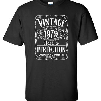 35th Birthday Gift For Men and Women - Vintage 1979 Aged To Perfection Mostly Original Parts T-shirt Gift idea. More colors available S-18