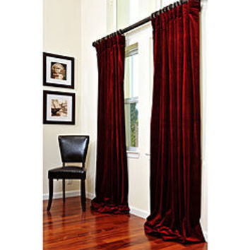Signature Maroon Wine Velvet 84-inch Curtain Panel | Overstock.com