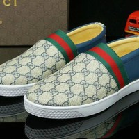 Gucci Men's GG Guccissima Leather Fashion Casual Sneakers Shoes