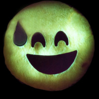 AWKWARD LITE UP EMOJI PILLOW