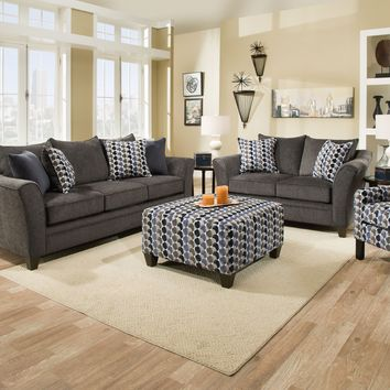 Albany Slate Sofa and Loveseat