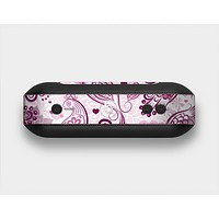 The White and Pink Birds with Floral Pattern Skin Set for the Beats Pill Plus