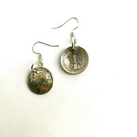 Authentic Silver .900 Mercury Dime Earrings.Dangle Earring. Coin Earring.