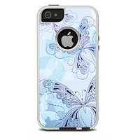 The Escaping Butterfly Floral Skin For The iPhone 5-5s Otterbox Commuter Case