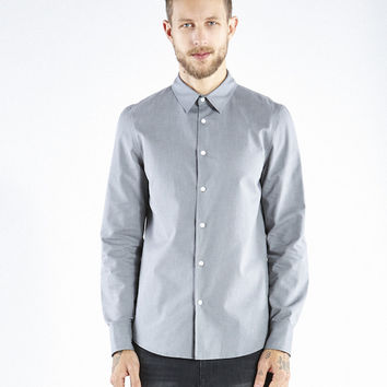 Organic Perfect Button Down - Grey