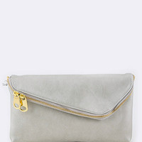 Envelope Clutch - Silver