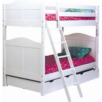Charlotte White Twin over Twin Bunk Bed