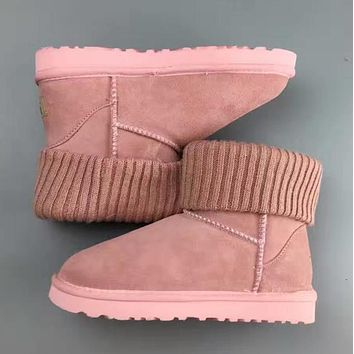 UGG leather boots boots in tube Boots Pink
