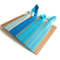 Elastic Hair Ties Blue Shades Yoga Hair Bands