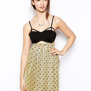 Jovonnista Toni Polka Dot Dress with Cut-OutDetail