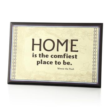 Home is the Comfiest Place to Be Plaque