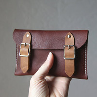 Leather Buckle Wallet // 2-Tone
