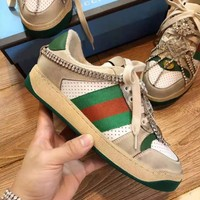 GUCCI High Quality Newest Popular Women Retro Casual Diamond Tassel Sneakers Sport Shoes