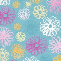 Blue Pattern Backdrop - 7245