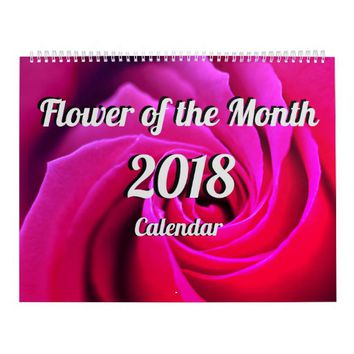 Flower of the Month 2018 Calendar