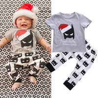 Kids Clothes Boys Clothing set 2pcs Cotton Shirt + Printed Pants Toddler Boys Clothing Children Suits Baby Boy Clothes Set 2017