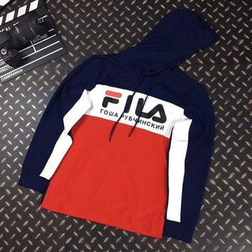 LMFUX5 FILA Woman Men Casual Fashion Hoodie Top Sweater Pullover-1