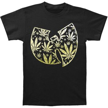 Wu Tang Clan Men's  Pot Leaf Clan Logo T-shirt Black