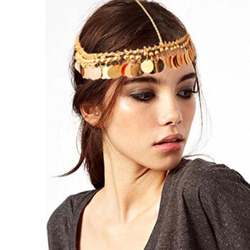 Tassels Head Chain Jewelry Chain Headband Head shiny Piece Hair Band