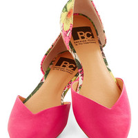 BC Footwear Dreaming of Destinations Flat in Fuchsia