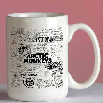 Arctic Monkeys mug coffee, mug tea, size 8,2 x 9,5 cm