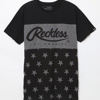 Young & Reckless Black Friday Reformed Black & Charcoal T-Shirt - Mens Tee - Black/Charcoal