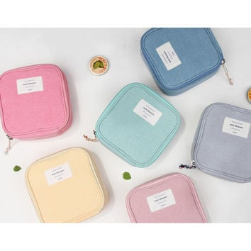 Donbook Wish blossom mind compact zipper pouch