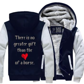 There Is No Greater Gift Than The Love Of A Horse, Horse Fleece Jacket