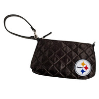 Pittsburgh Steelers NFL Quilted Wristlet (Black)