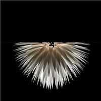 Jeremy Cole White Flax Flush Mount Lamp - Style # WFSHALF, Sconce – Ceiling Light – Wall Sconce – Wall Light – Wall Lamp – Ceiling Lighting – Modern lighting | SwitchModern.com