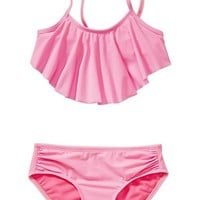 Old Navy Girls Ruffle Top Bikinis