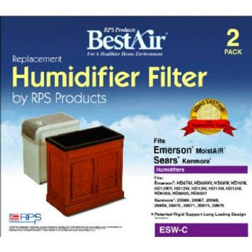 BestAir ESW Extended Life Humidifier Wick Filter, 2-Pack