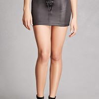 Kikiriki Lace-Front Mini Skirt