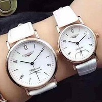 LONGINSE Trending Watch Ladies Men Watch Little Ltaly Stylish Watch White G-YF-GZYFBY