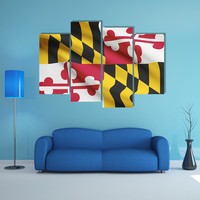 State Of Maryland Flag Multi Panel Canvas Wall Art
