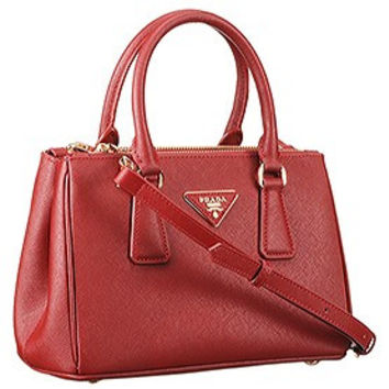 prada saffiano vernice mini double-zip tote bag
