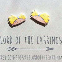 Hey Arnold Stud Earrings