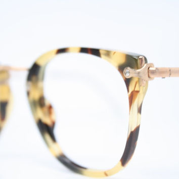 Antique Glasses Frames 14k Gold filled 1980's vintage eyewear NOS Deadstock Vintage Eyeglasses