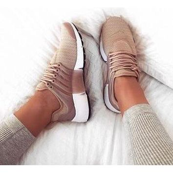 Nike Air Presto Woman Men Fashion Casual Trending Running Sneakers Sport Shoes Apricot G