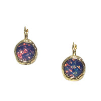 AB Color Stone Earrings